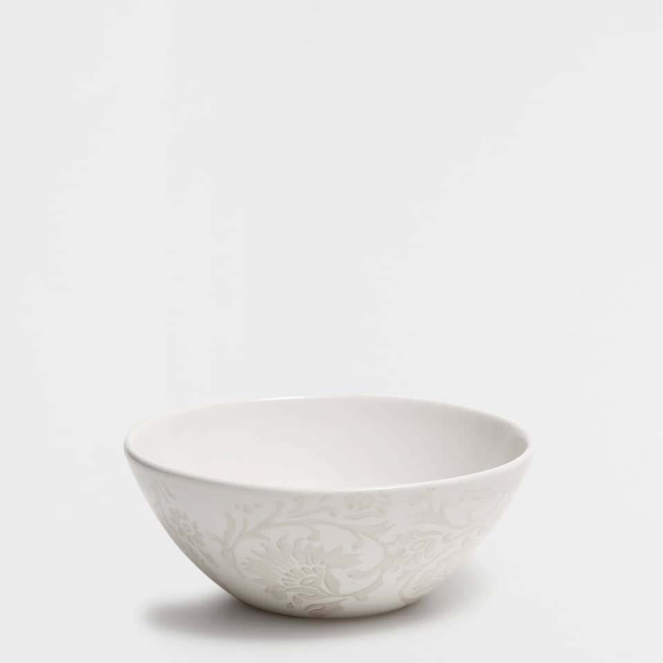 Printed earthenware bowl
