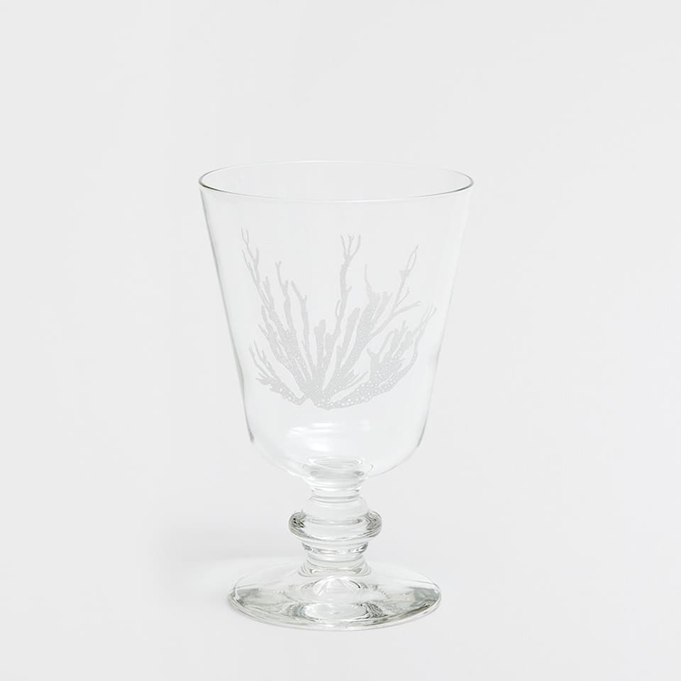 CORAL TRANSFER WINE GLASS