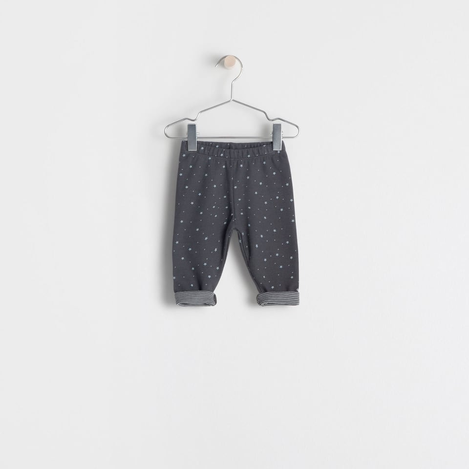 dotted cotton trousers