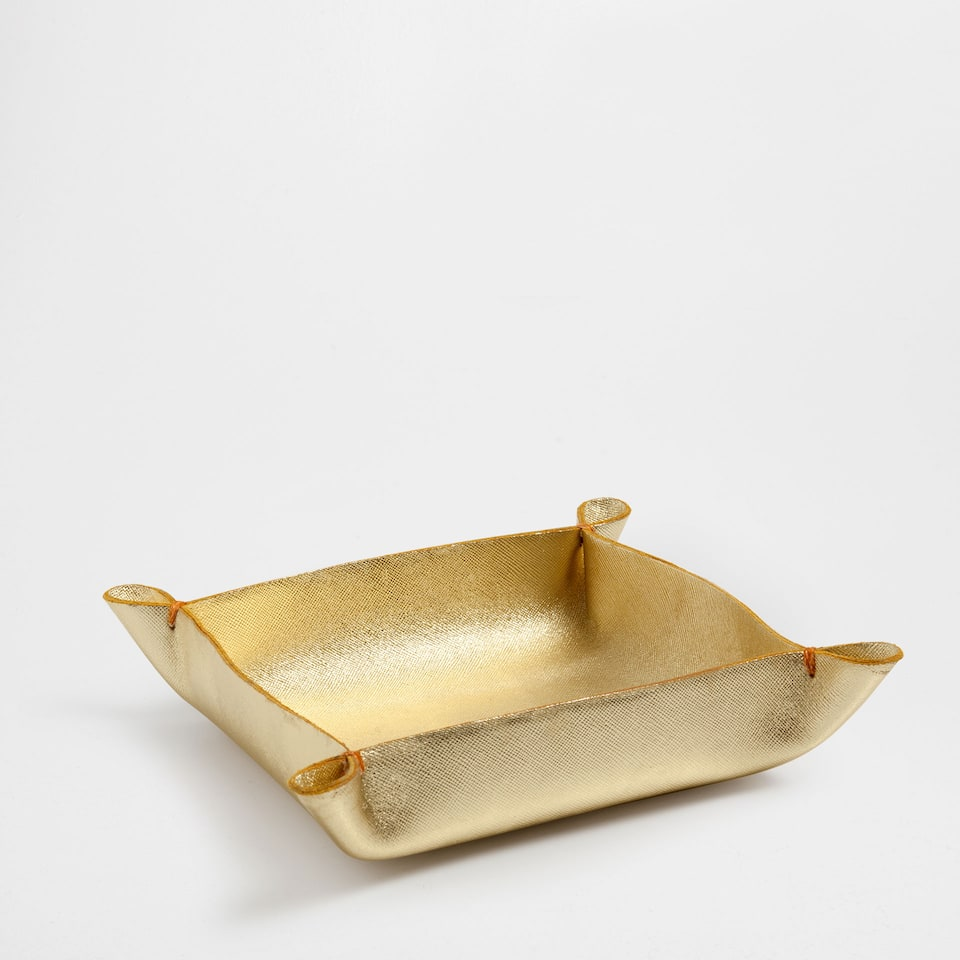 GOLD LEATHER TIDY TRAY