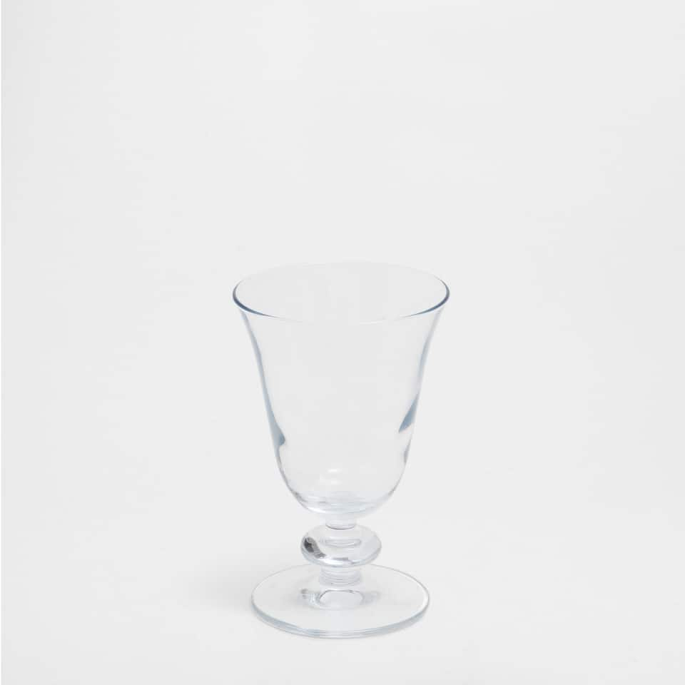 Wine Glass with Detailing on the Base