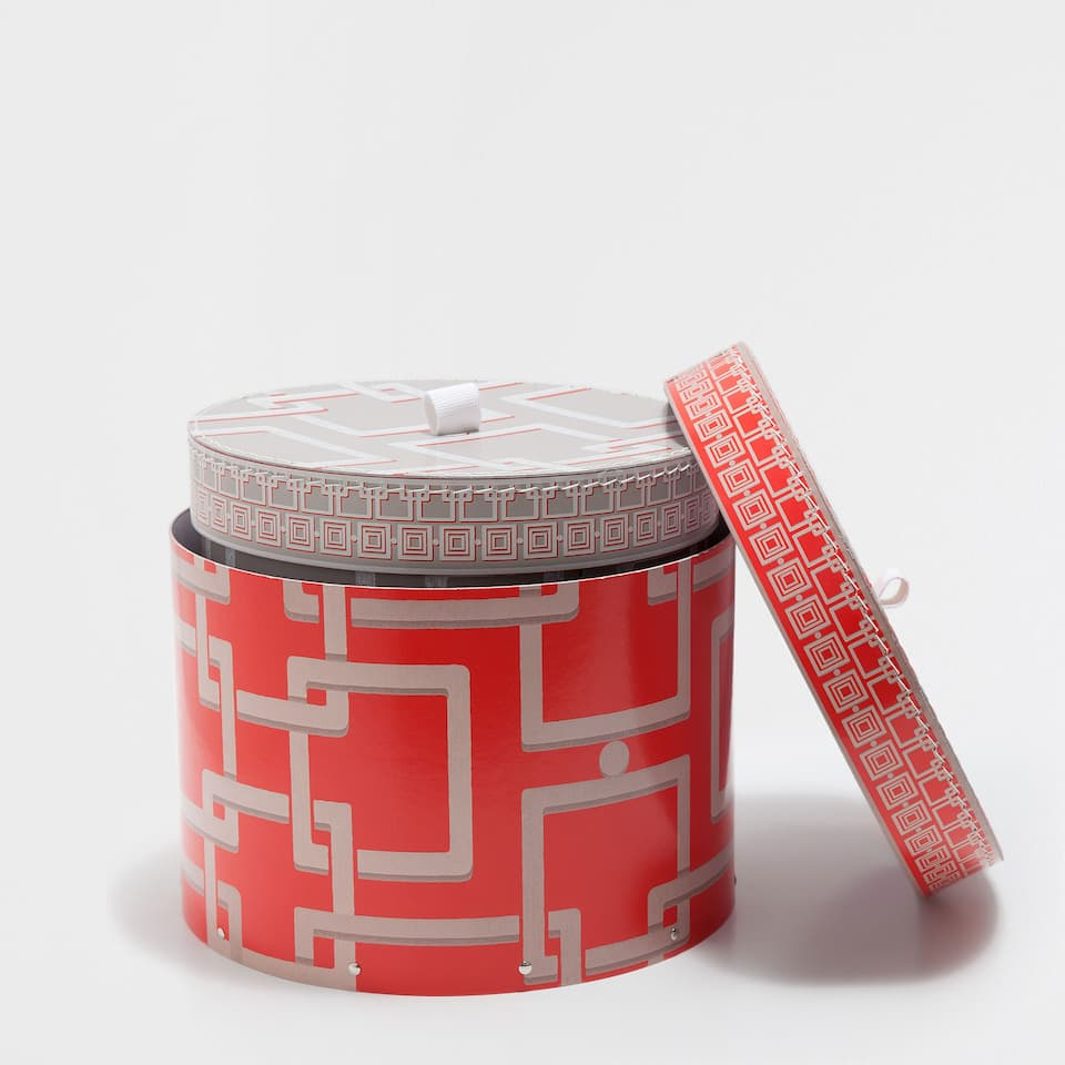 LATTICE-DESIGN ROUND BOX