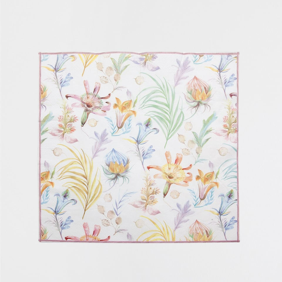 Botanical Flowers Napkins (Set of 20)