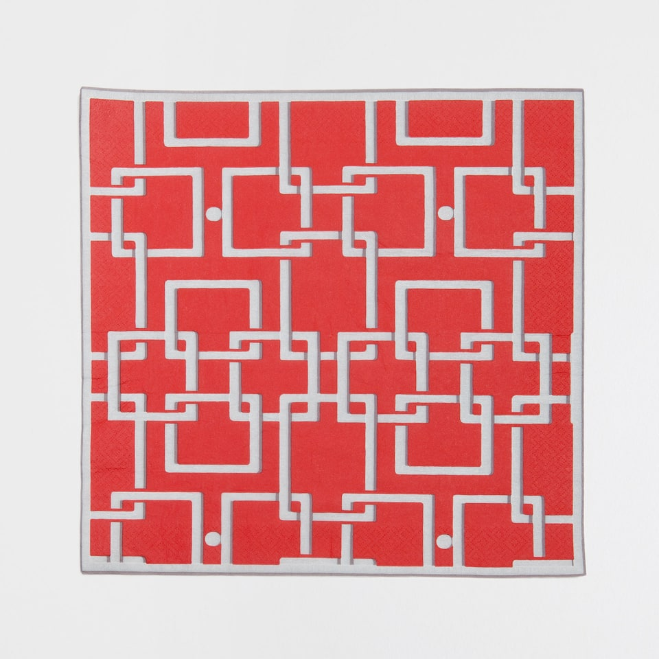 Lattice-Design Napkins (Set of 20)