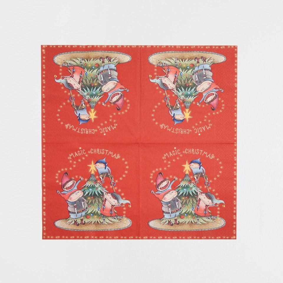 Elf design napkins (set of 20)