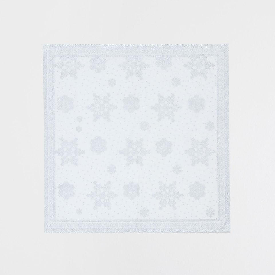 Silver snowflake napkins (set of 20)