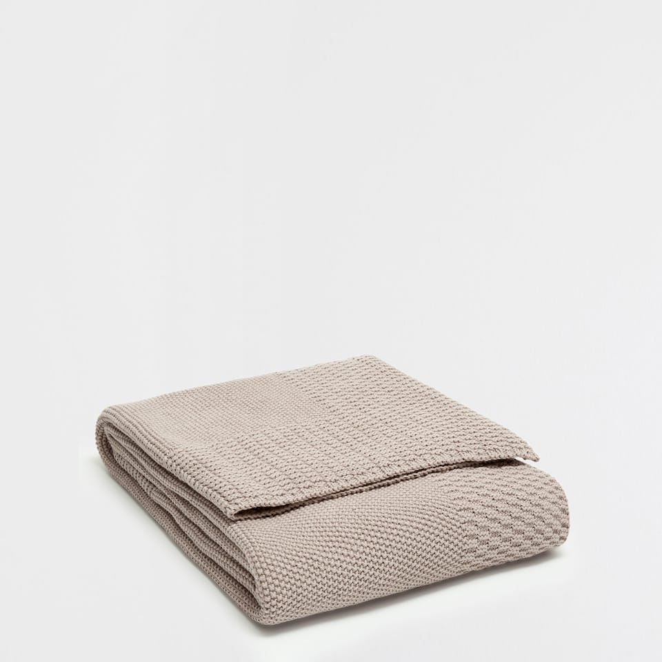 COTTON KNIT BLANKET