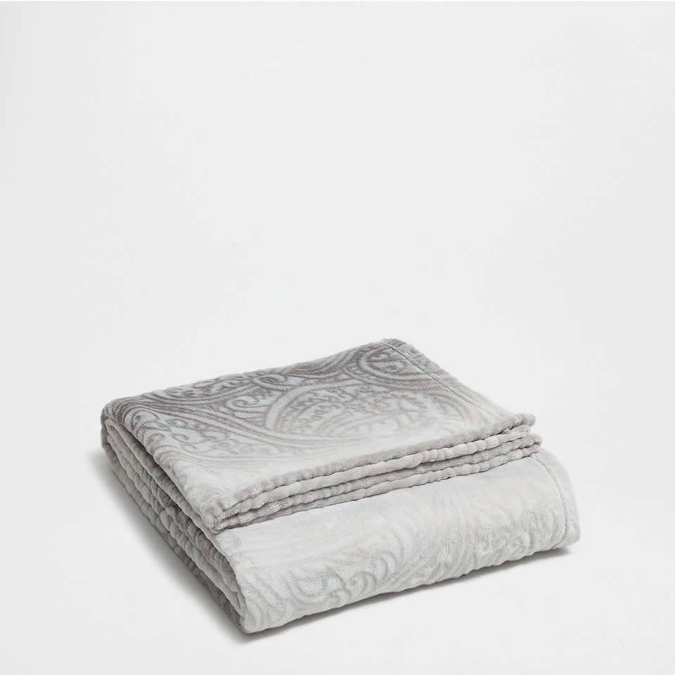 COPERTA IN PILE STAMPA PAISLEY