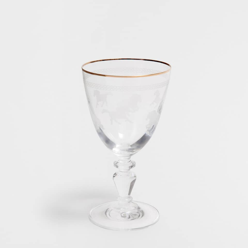 HORSES WINE GLASS