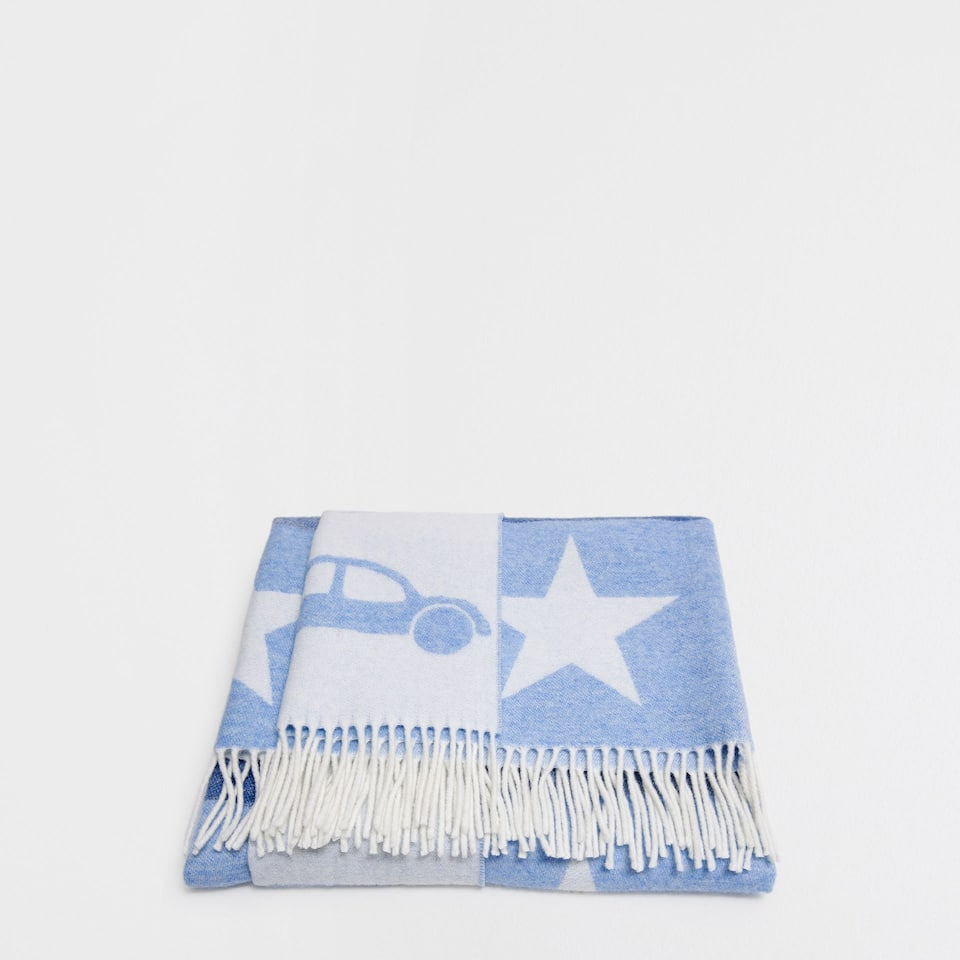 Cars and stars wool blanket