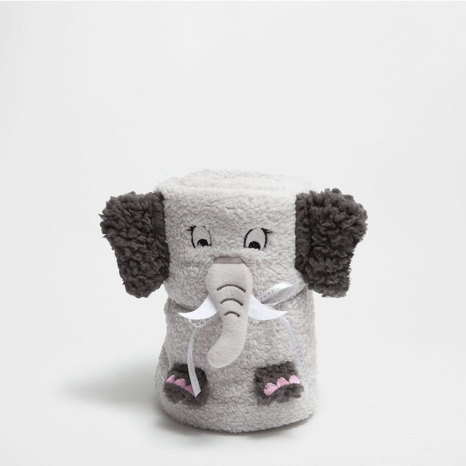 Elephant doll blanket