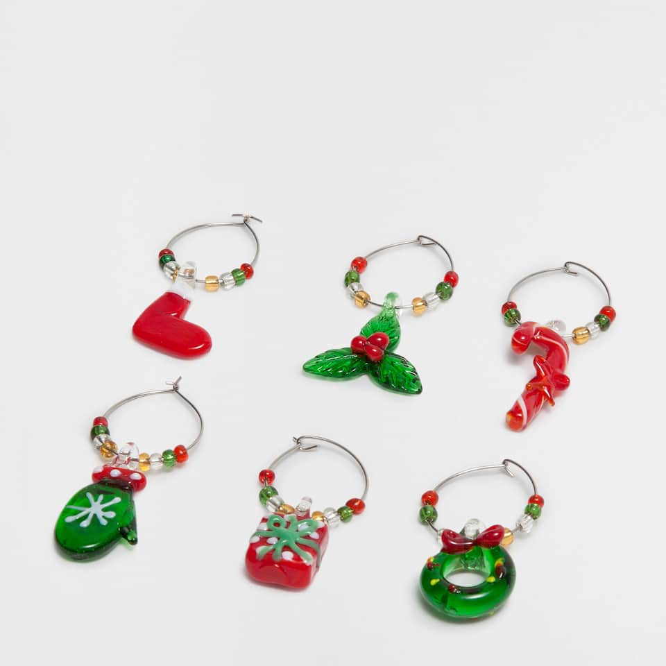 Christmas-shaped glass markers
