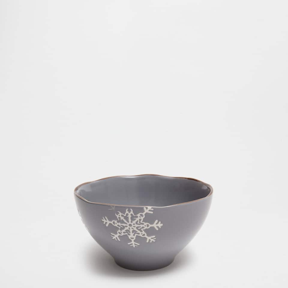 Grey snowball bowl