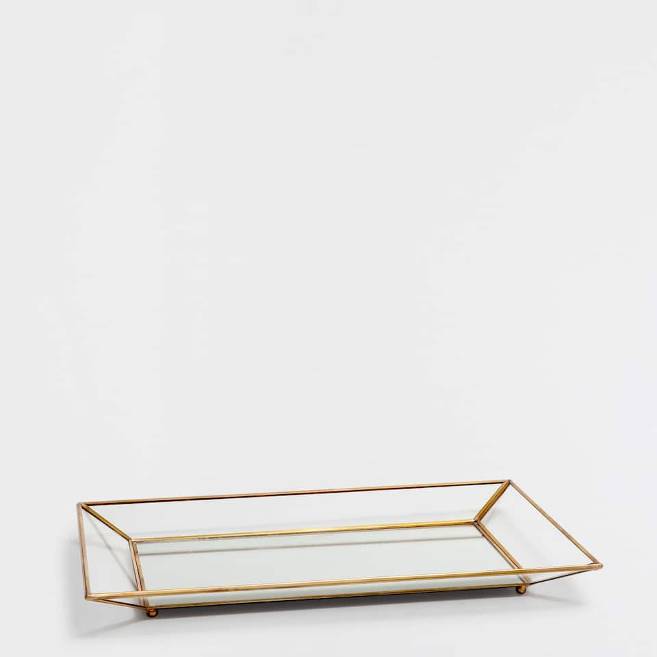 DECORATIVE MIRRORED TRAY