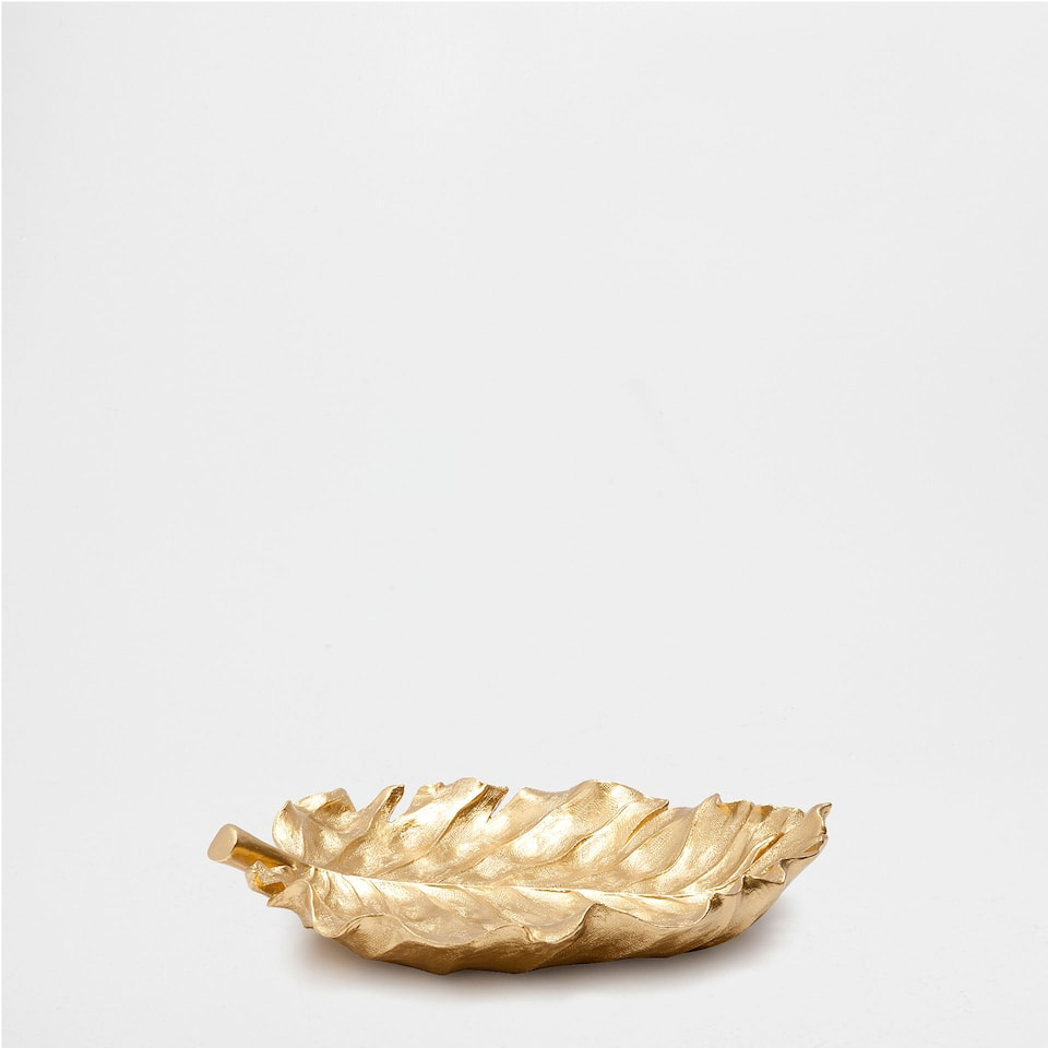 GOLDEN LEAF DECORATIVE TRAY