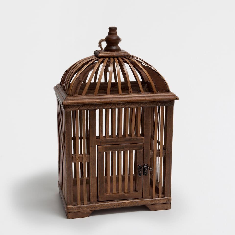 DECORATIVE WOODEN CAGE
