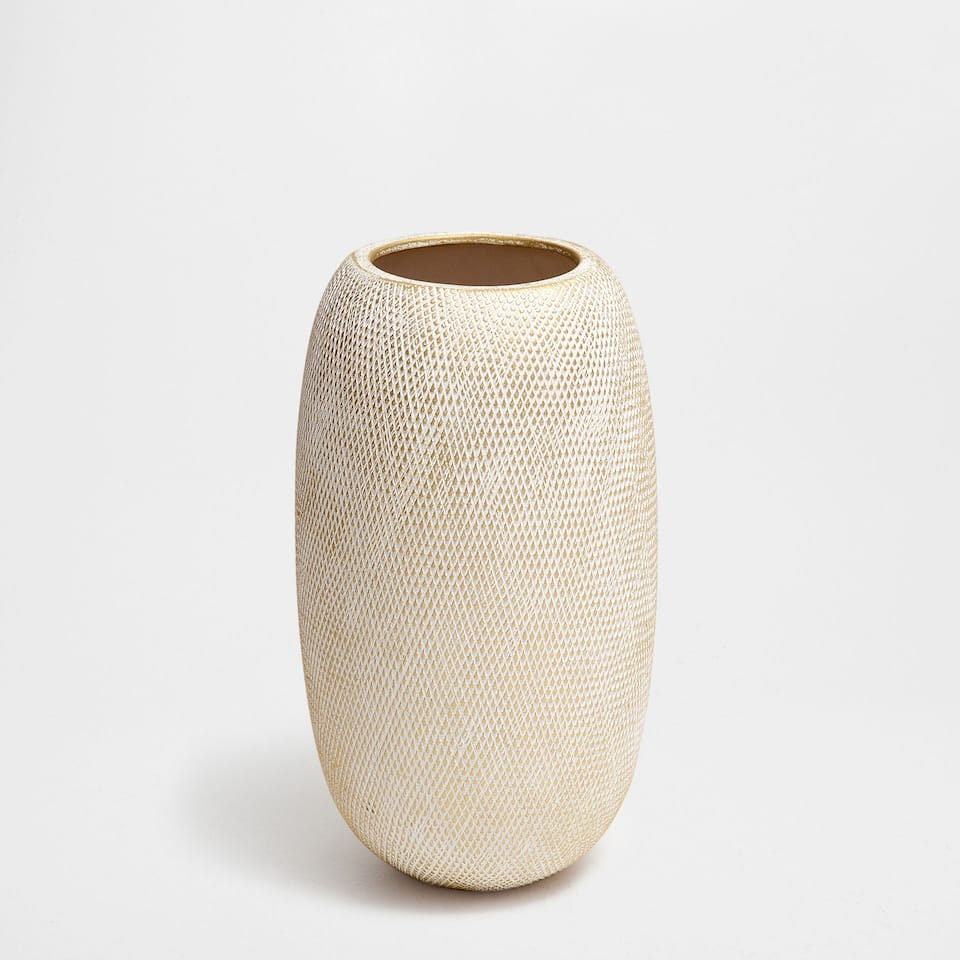 CERAMIC STRIPED VASE