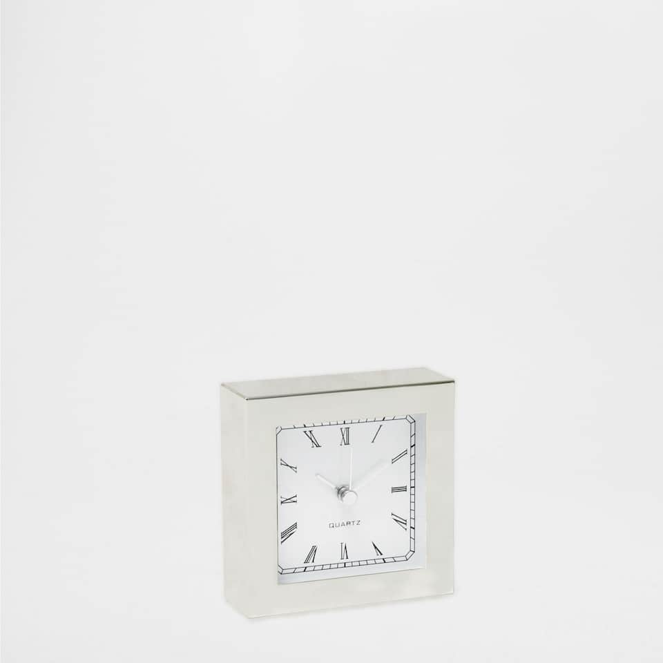 SILVER COLOURED CLOCK