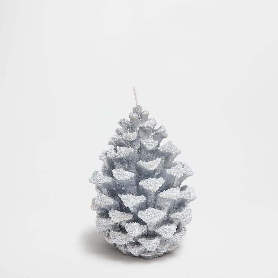 Pine cone-shaped candle