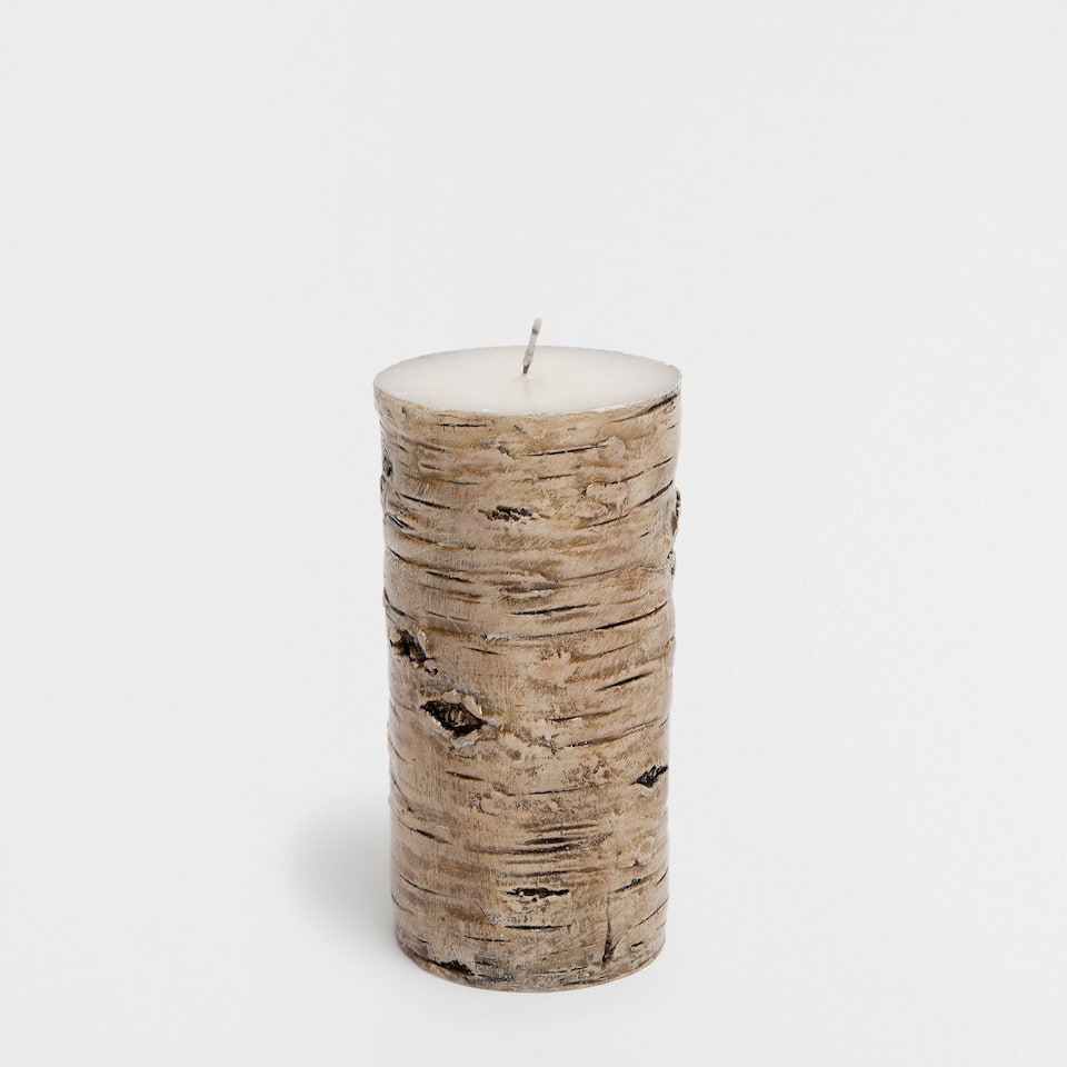 Brown trunk-shaped candle