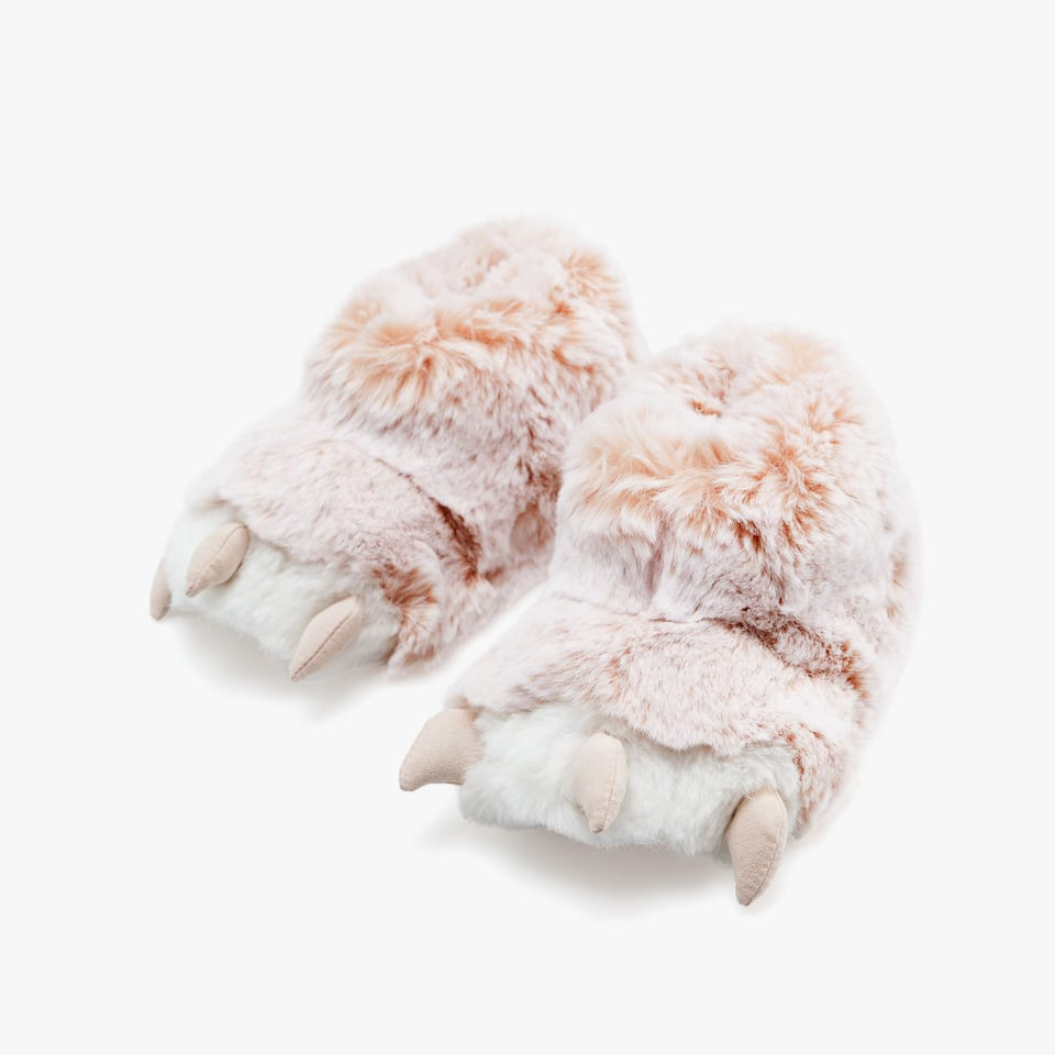 GIRLS' CLAW SLIPPERS (24-32)