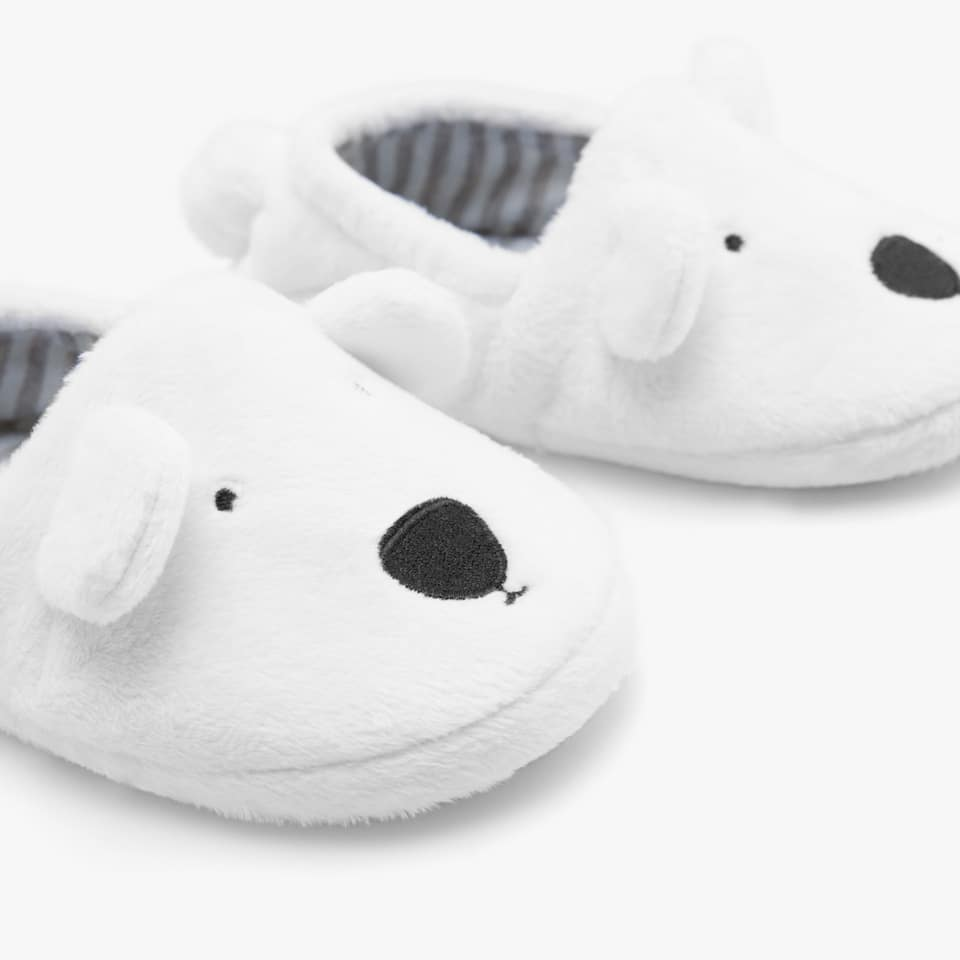 POLAR BEAR-SHAPED SLIPPERS