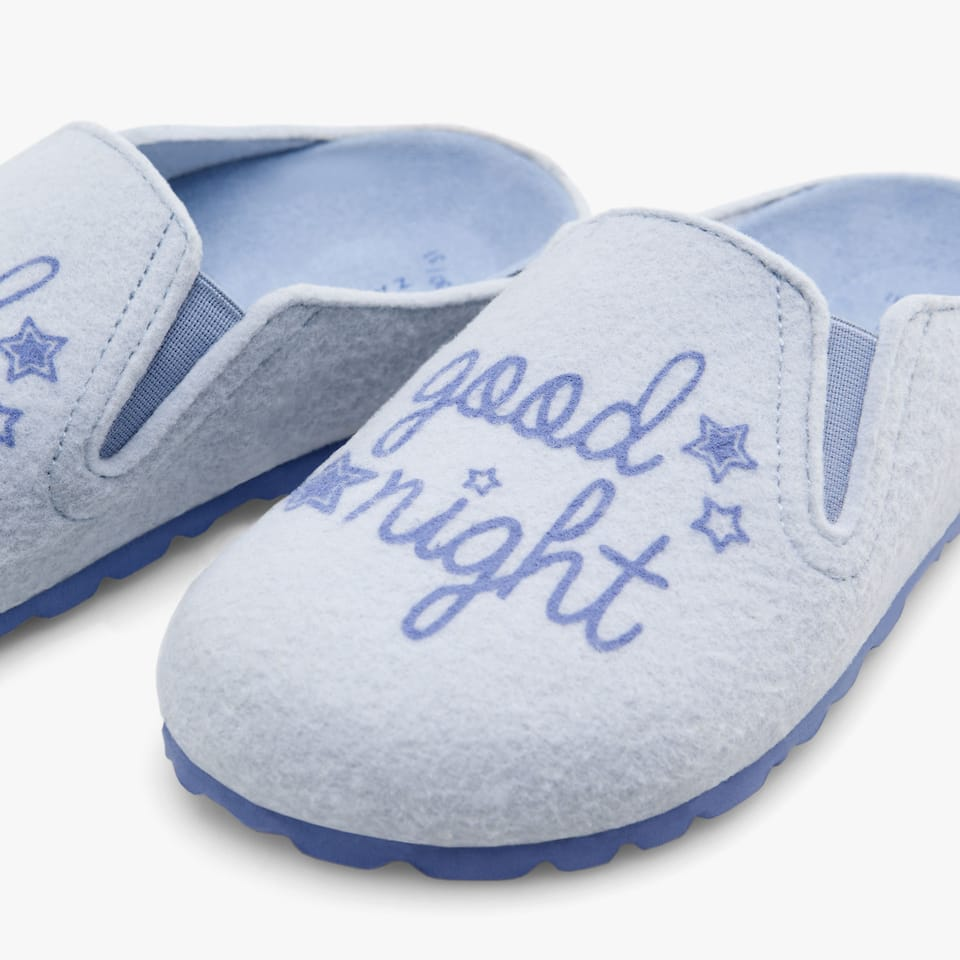 BOY'S 'GOODNIGHT' FELT MULE CLOG SLIPPERS
