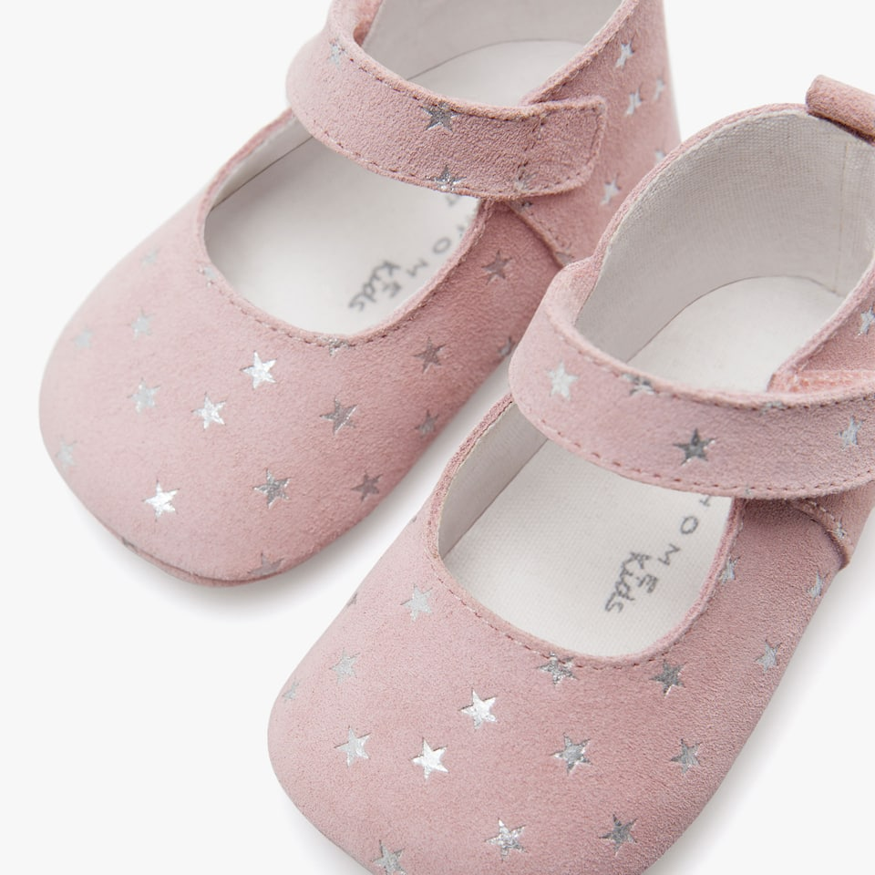GIRL'S STAR PRINT LEATHER BOOTIES