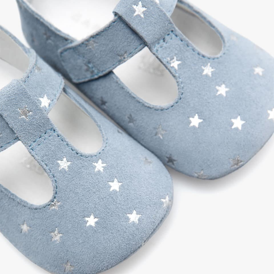 BOY'S STAR PRINT LEATHER BOOTIES
