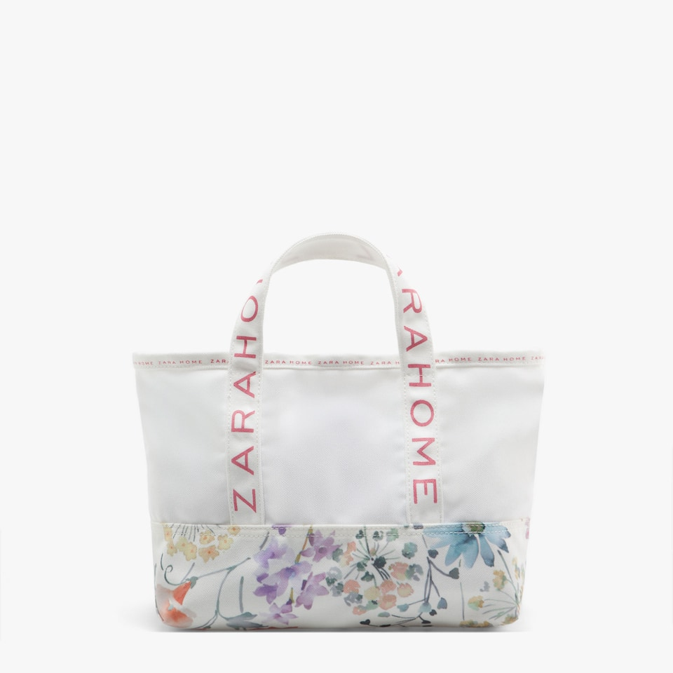 MINI TOTE WITH FLOWER PRINT