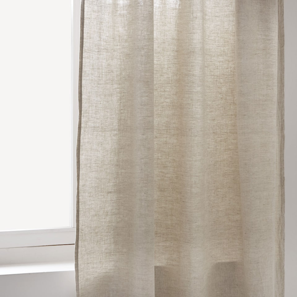 Faded linen curtain
