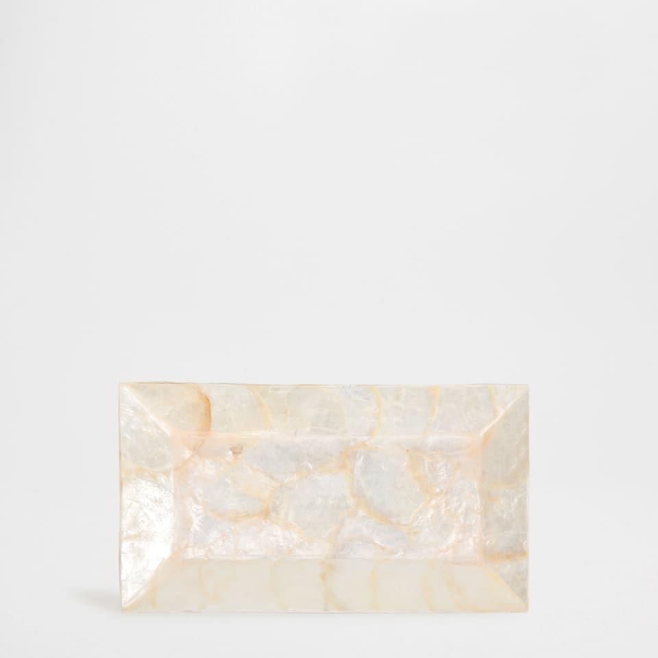 SMALL RECTANGULAR MOTHER-OF-PEARL SERVING DISH