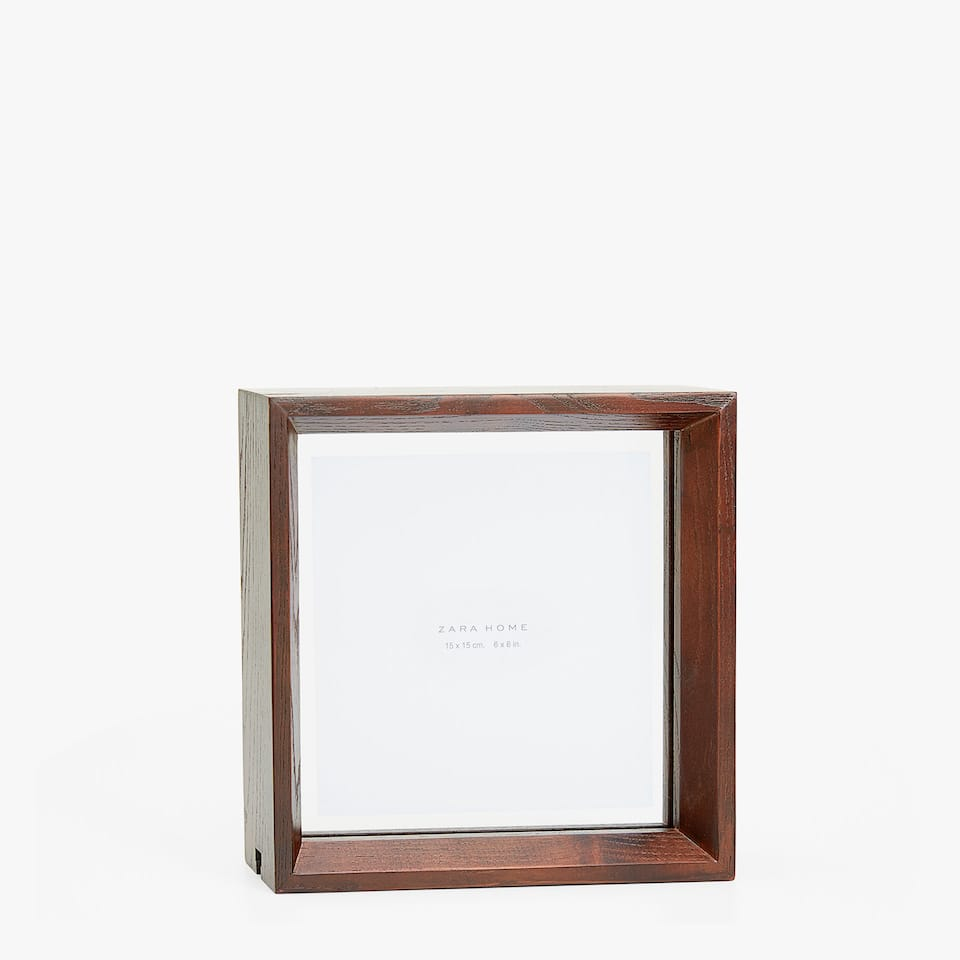 SQUARE DARK WOODEN FRAME