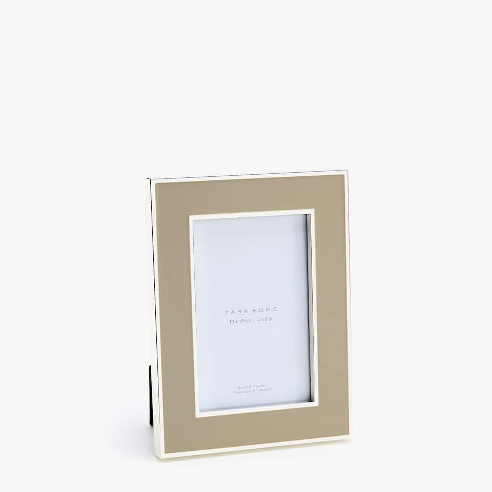 TAUPE COLOURED LACQUER FRAME