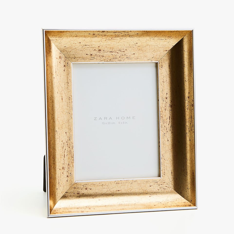GOLD FRAME WITH ANTIQUE FINISH