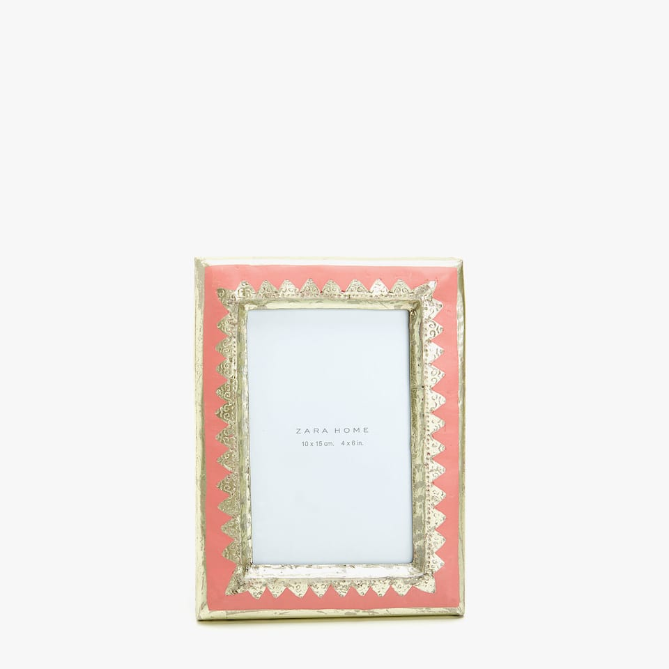 PINK FRAME WITH GOLD TRIMS