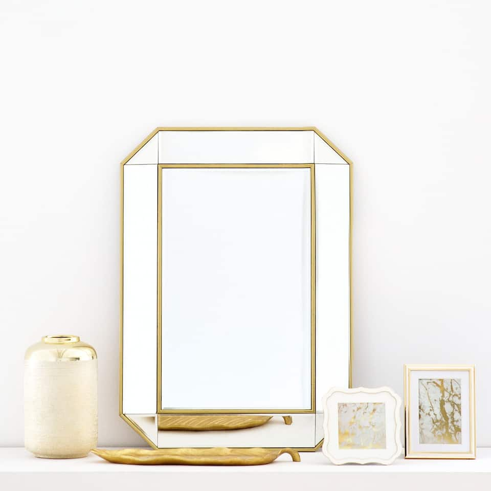 GOLD DOUBLE BORDER MIRROR