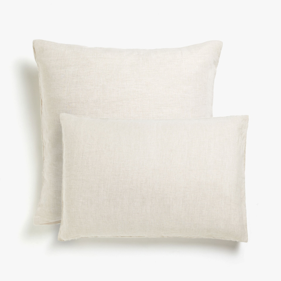 Washed linen pillow case