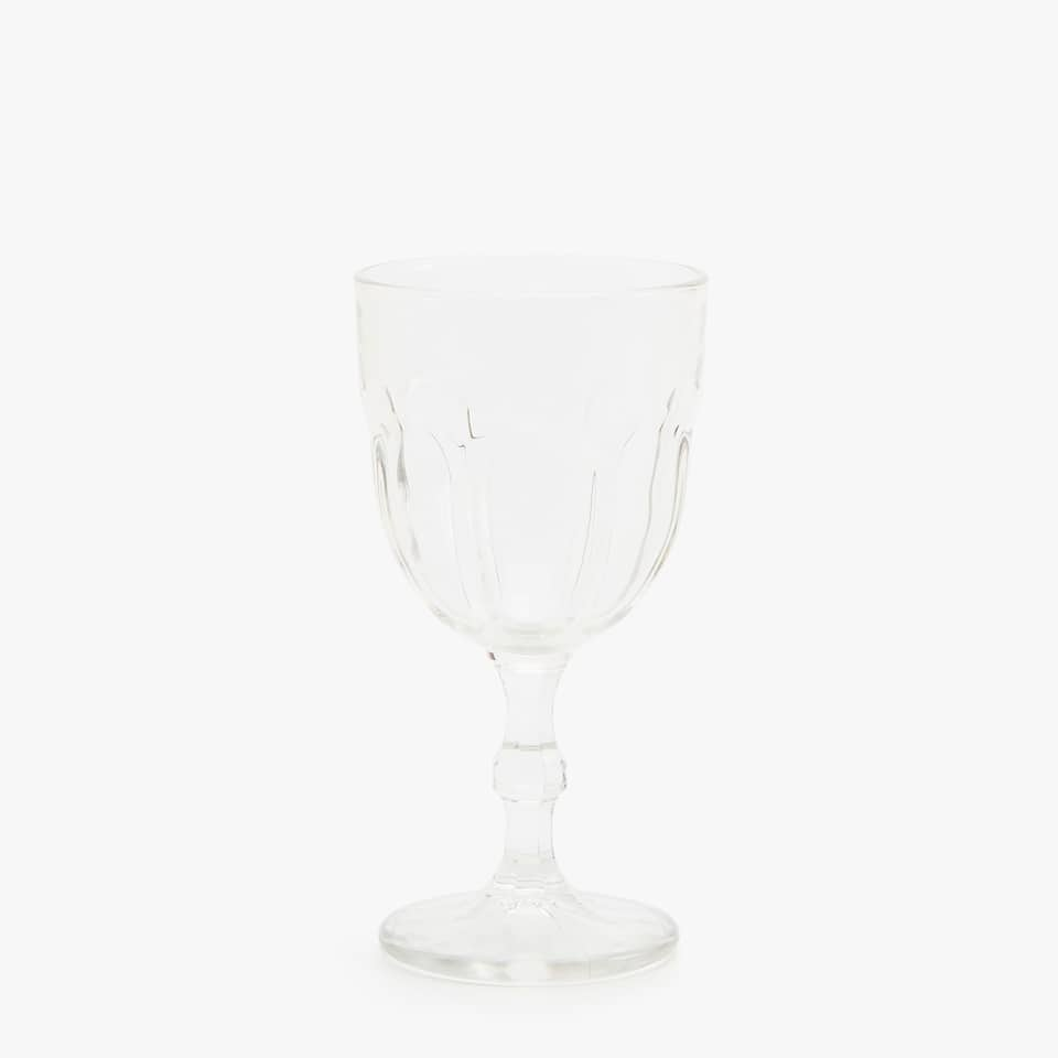 TRANSPARENT GLASS WATER GOBLET