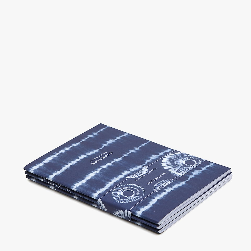 TWO-TONE PRINT NOTEBOOKS (SET OF 3)