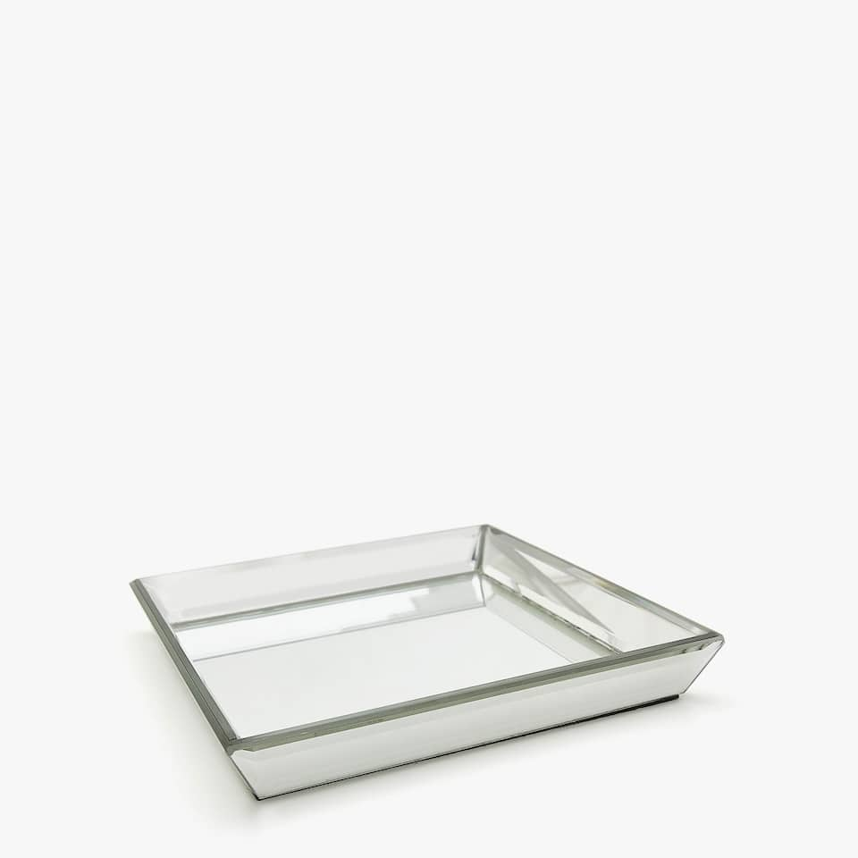 SQUARE BEVELLED MIRROR DECORATIVE TRAY