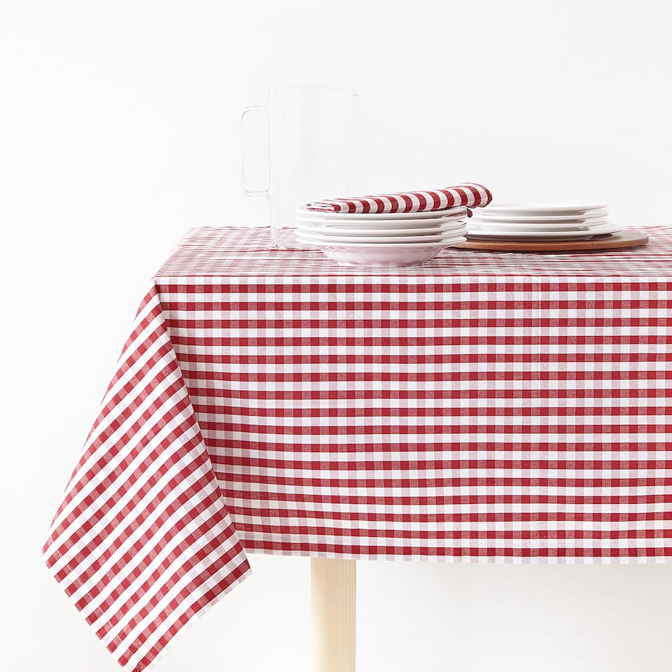 GINGHAM COTTON TABLECLOTH