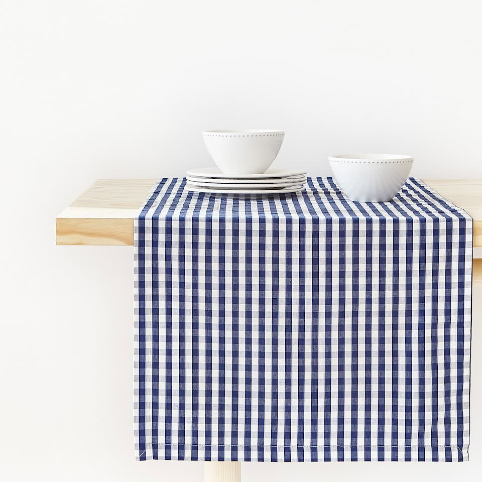 GINGHAM COTTON TABLE RUNNER