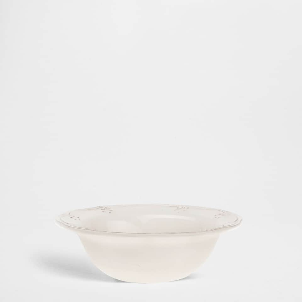 Wavy earthenware bowl