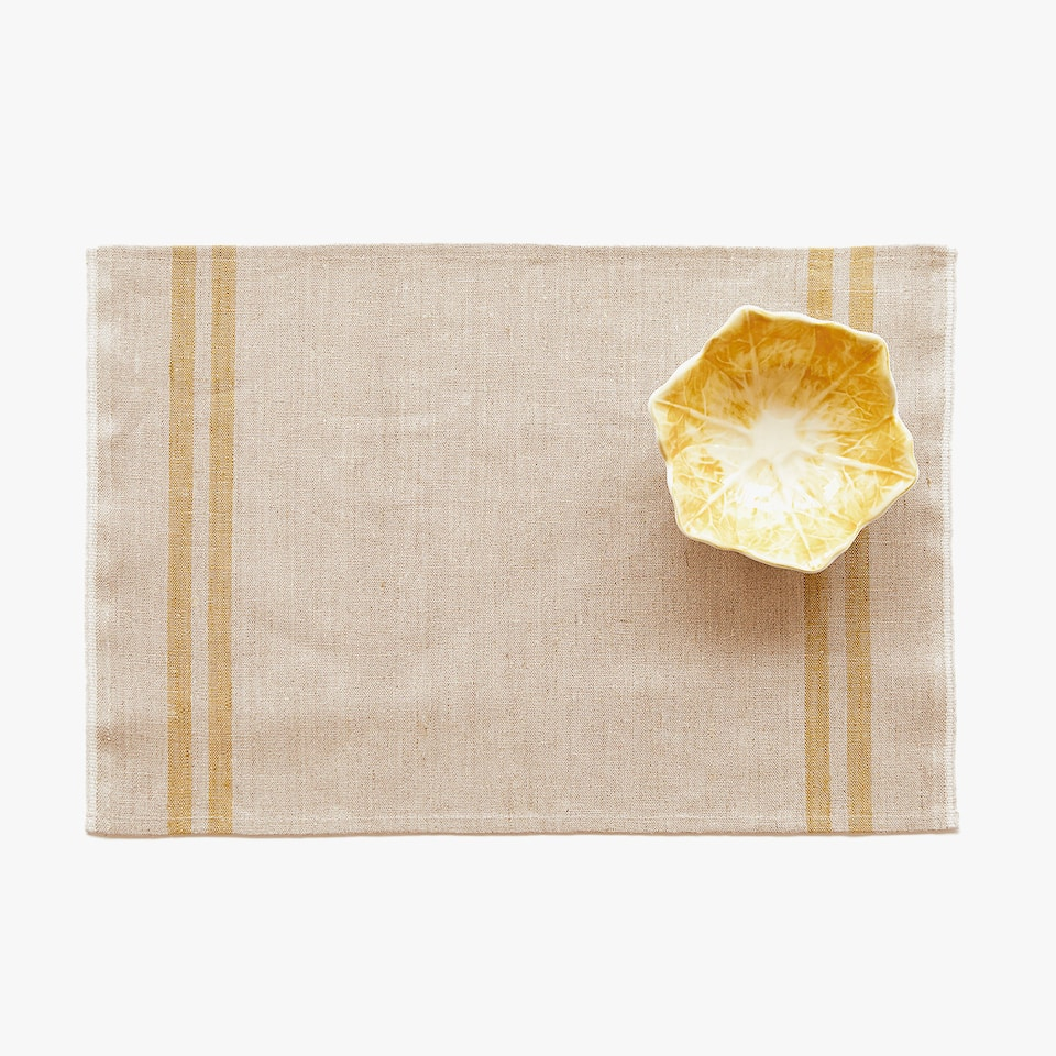 LINEN PLACEMAT WITH STRIPES