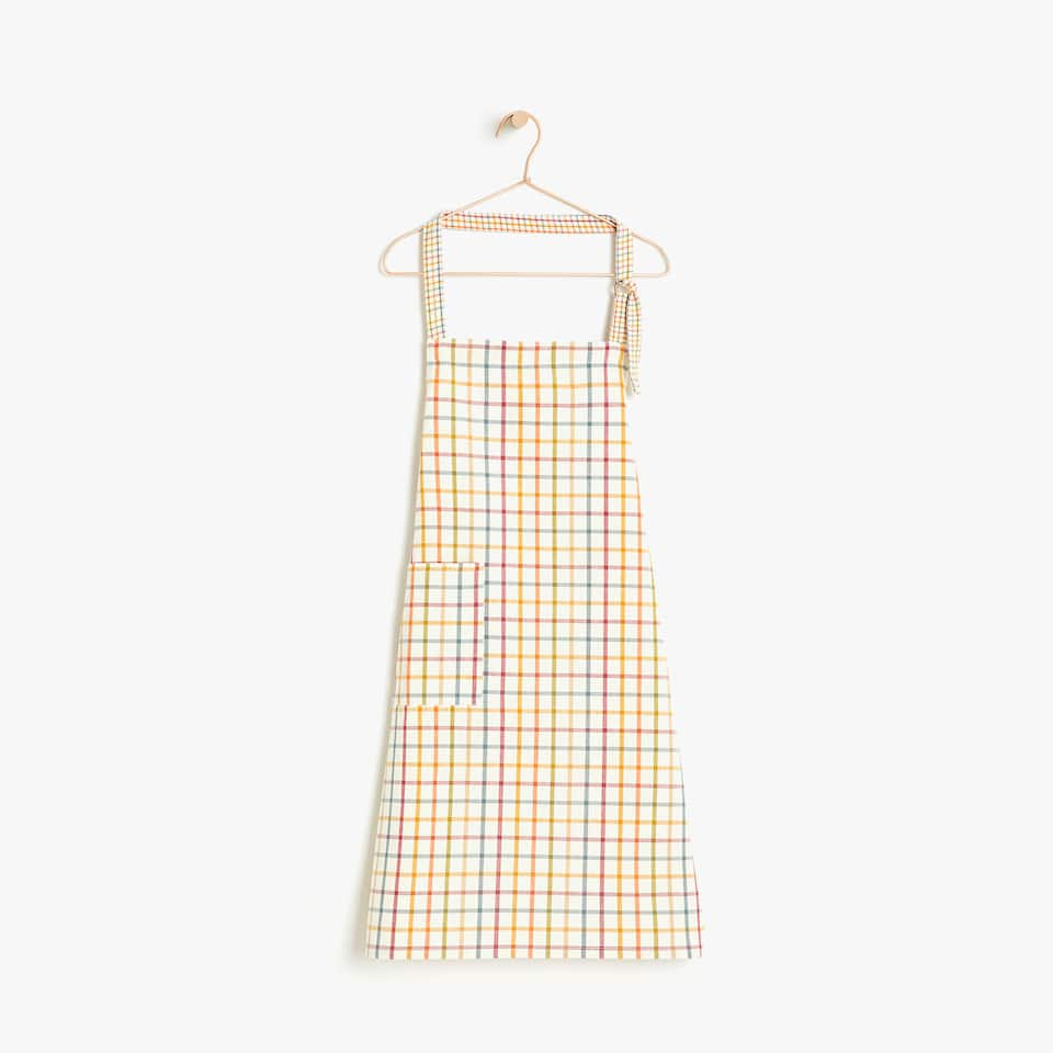 MULTICOLOURED CHECKED APRON