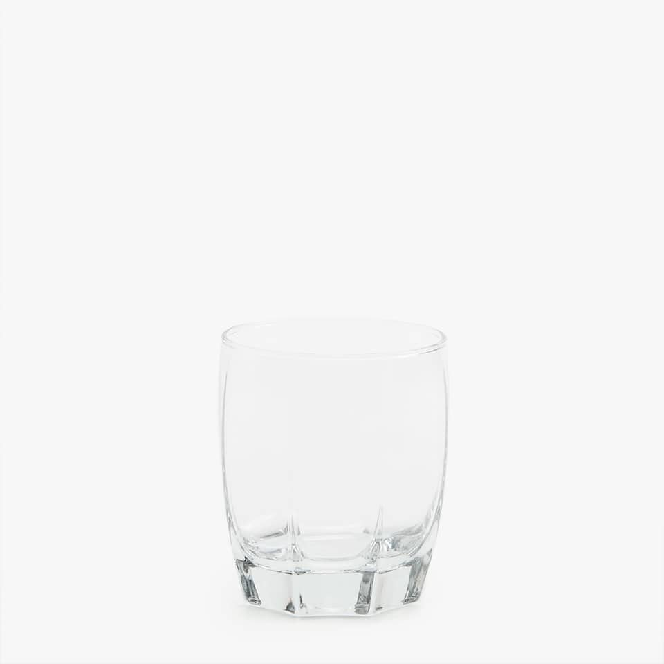 OCTAGONAL WHISKEY GLASS