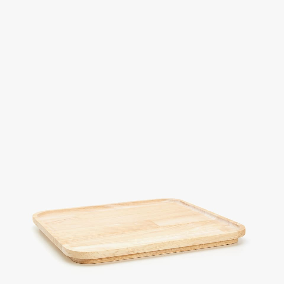 Light-toned wooden tray