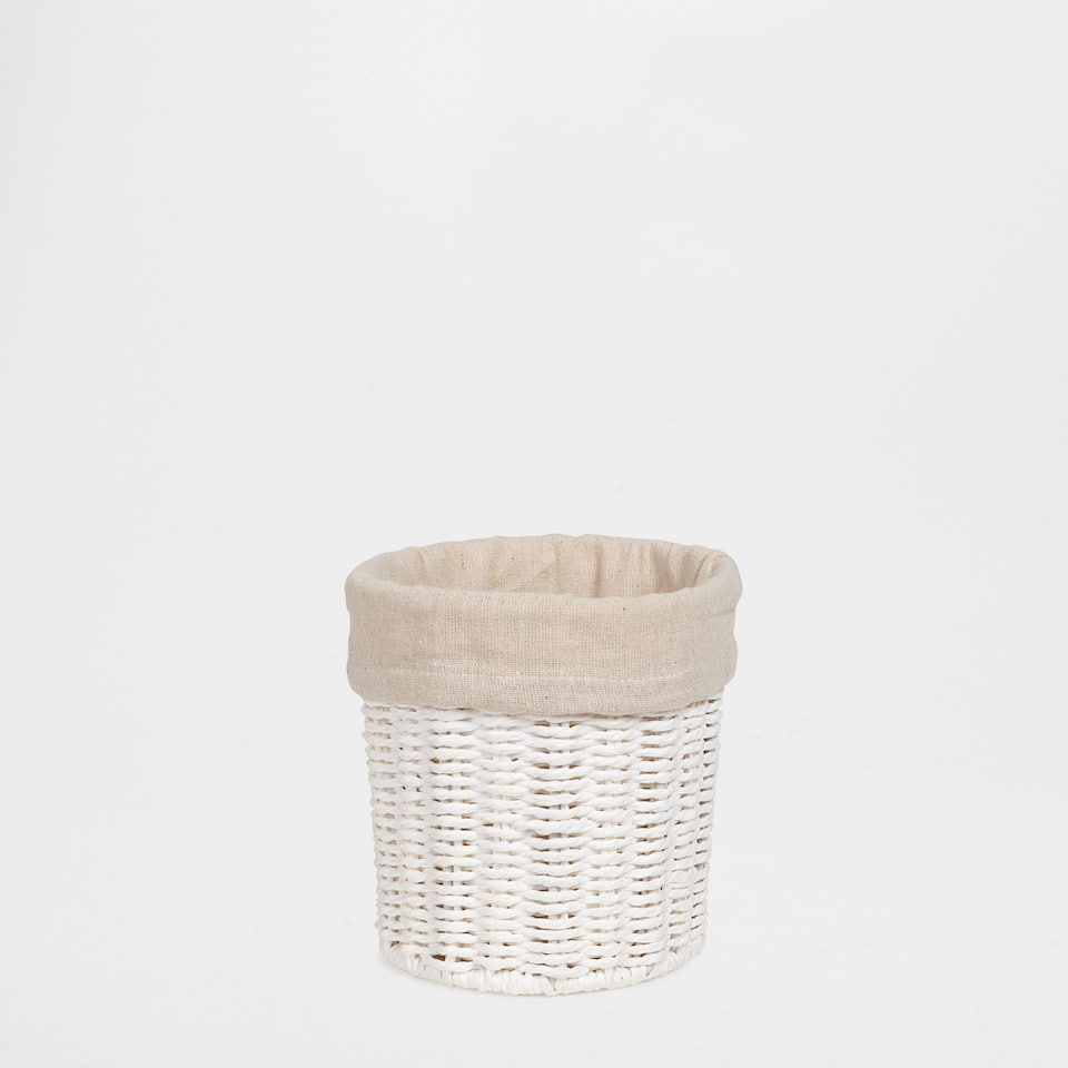 FABRIC-LINED ROUND BASKET