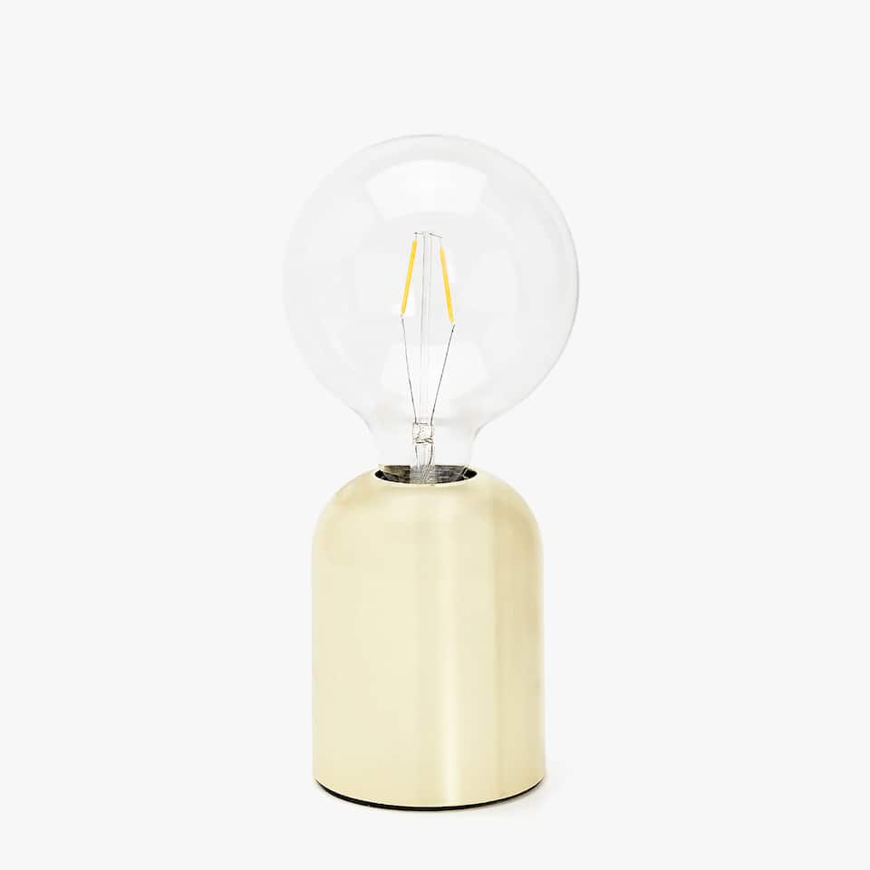 EXPOSED LIGHT BULB LAMP WITH METAL BASE